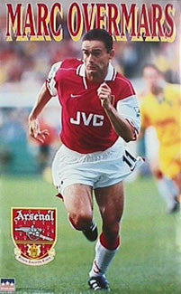 "Marc Overmars ""Action"" Arsenal FC Soccer Poster - Starline 1997"