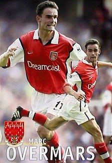 "Marc Overmars ""Double Action"" Arsenal FC Poster - U.K. 1999"