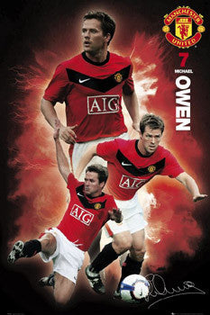 "Michael Owen ""Signature 2010"" Manchester United Poster- GB Eye (UK )"