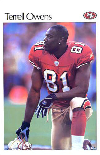 "Terrell Owens ""The Player"" San Francisco 49ers Retro SI Poster - Starline 2003"