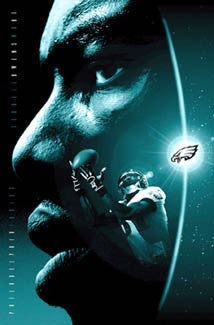 "Terrell Owens ""Shining Light"" Philadelphia Eagles NFL Action Poster - Costacos 2004"