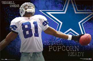 "Terrell Owens ""Lone Star"" Dallas Cowboys Poster - Costacos 2006"