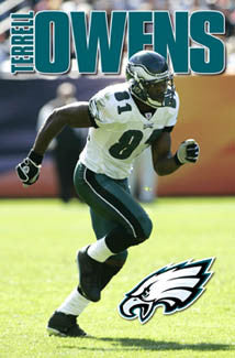Terrell Owens Philadelphia Eagles NFL Action Poster - Costacos 2004