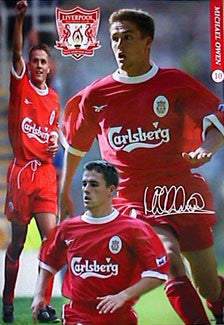 "Michael Owen ""Signature"" Liverpool FC Poster - UK 1999"