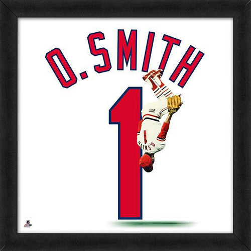 "Ozzie Smith ""Number 1"" St. Louis Cardinals MLB FRAMED 20x20 UNIFRAME PRINT - Photofile"