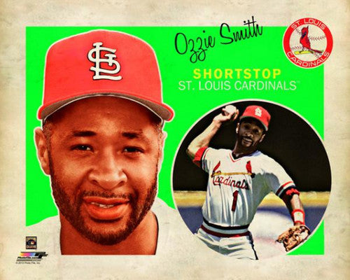 "Ozzie Smith ""Retro SuperCard"" St. Louis Cardinals Premium Poster Print - Photofile 16x20"