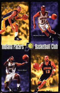"Indiana Pacers ""Fab Four"" Poster (Rose, Miller, Best, Jackson) - Costacos 1999"