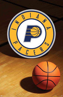 Indiana Pacers Official Team Logo Poster - Costacos Sports