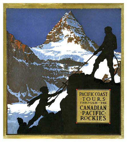 Rocky Mountain Climbing Tours - Canadian Pacific Vintage Travel Poster Reprint - Eurographics