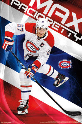 "Max Pacioretty ""Captain Canadien"" Montreal Canadiens NHL Hockey Poster - Trends 2016"