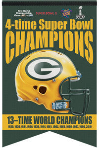 Green Bay Packers 13-Time Champions Premium Felt Banner - Wincraft 2011