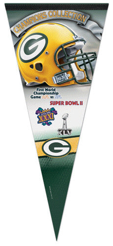Green Bay Packers 4-Time Super Bowl Champions EXTRA-LARGE Premium Pennant
