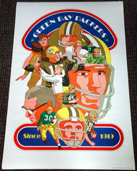 Green Bay Packers NFL Collectors Series 1968 Vintage Original Poster