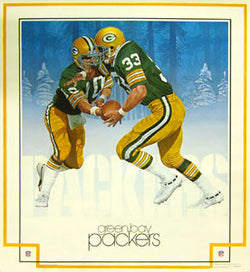 "Green Bay Packers ""In the Snow"" NFL Theme Art Poster - DAMAC 1983"