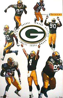 "Green Bay Packers ""7 Stars"" Action Poster - Costacos 1999"