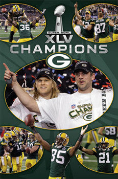 "Green Bay Packers Super Bowl XLV ""Celebration"" Commemorative Poster - Costacos 2011"