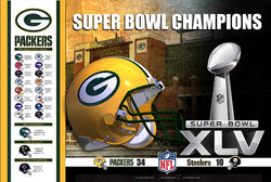 Green Bay Packers Super Bowl Champions XLV Commemorative Poster - Action Images 2011