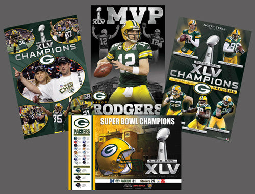 COMBO: Green Bay Packers 2011 Super Bowl XLV Champs Combo