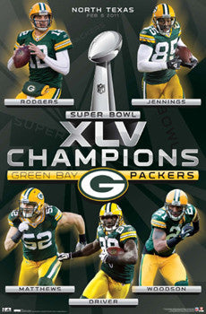 Green Bay Packers Super Bowl Champions XLV Commemorative Poster - Costacos