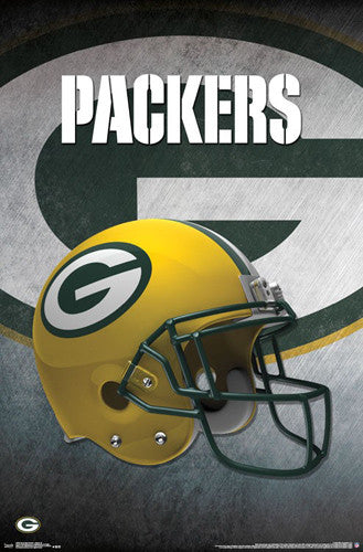 Green Bay Packers Official NFL Football Team Helmet Logo Poster - Trends International
