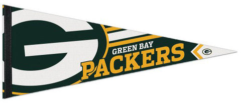 Green Bay Packers Logo-Style NFL Football Team Premium Felt Collector's PENNANT - Wincraft