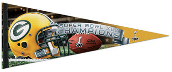 Green Bay Packers Super Bowl XLV Champs Premium Pennant - Wincraft