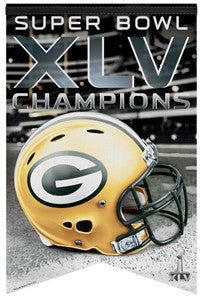 Green Bay Packers Super Bowl XLV Premium Felt Banner - Wincraft