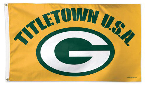"Green Bay Packers ""Titletown USA"" Official NFL Football DELUXE 3'x5' Flag - Wincraft Inc."