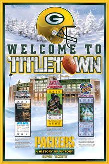 "Green Bay Packers ""History of Victory"" (First Three Super Bowl Championships) Poster"