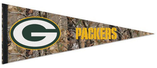 "Green Bay Packers ""Backwoods"" Premium Felt Pennant - Wincraft"