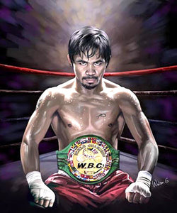 "Manny Pacquiao ""Champion"" Boxing Premium Poster Print - Wishum Gregory"