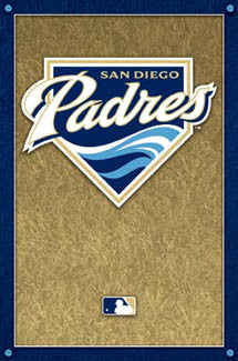 San Diego Padres Official Logo Poster - Costacos Sports