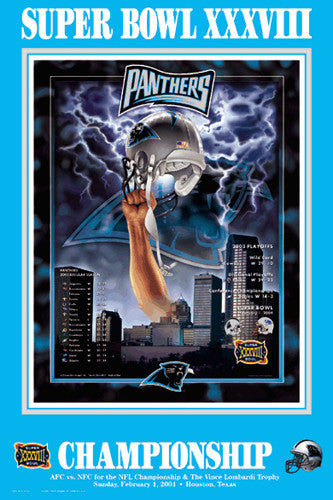 "Carolina Panthers ""Super Season XXXVIII"" (NFC Champions) Poster - Action Images 2004"