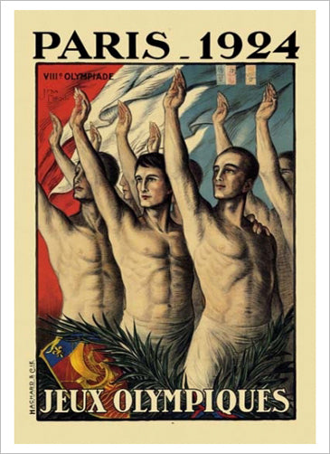Paris 1924 Summer Olympic Games Official Poster Reprint - Olympic Museum