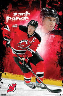 "Zach Parise ""The Captain"" New Jersey Devils Poster - Costacos 2011"