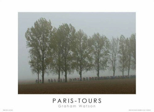 "Paris-Tours ""Into the Fog"" (2004) Premium Cycling Poster Print - Graham Watson"