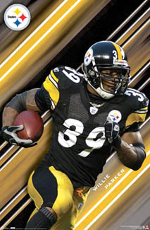 "Willie Parker ""Fast Willie"" Pittsburgh Steelers Poster - Costacos 2007"