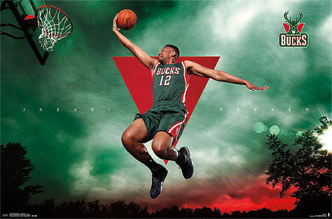 "Jabari Parker ""Soaring"" Milwaukee Bucks Official NBA Basketball Poster - Costacos 2015"