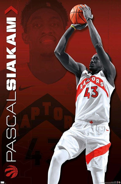 "Pascal Siakam ""Superstar"" Toronto Raptors NBA Basketball Action Poster - Trends International"
