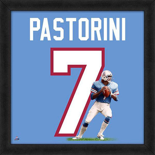 "Dan Pastorini ""Number 7"" Houston Oilers FRAMED 20x20 UNIFRAME PRINT - Photofile"