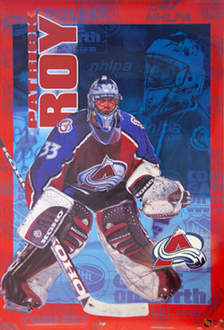"Patrick Roy ""Stopper"" Colorado Avalanche NHL Action Poster - Trends 1999"