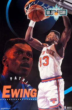 "Patrick Ewing ""Jam Session"" New York Knicks NBA Action Poster - Costacos Brothers 1993"