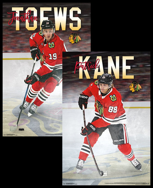 "Jonathan Toews and Patrick Kane ""Super Action"" Chicago Blackhawks NHL Hockey 2-Poster Set - Trends Int'l."