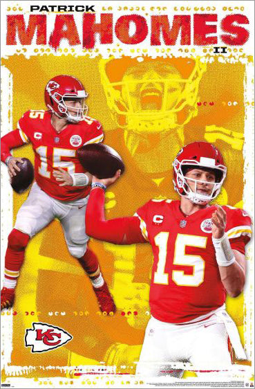 "Patrick Mahomes ""Superstar"" Kansas City Chiefs Official NFL Football Wall Poster - Trends 2020"