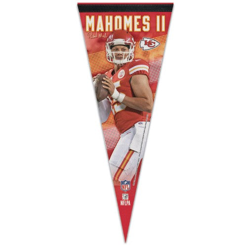 Patrick Mahomes Kansas City Chiefs Signature Series Premium Felt Collector's PENNANT - Wincraft 2016