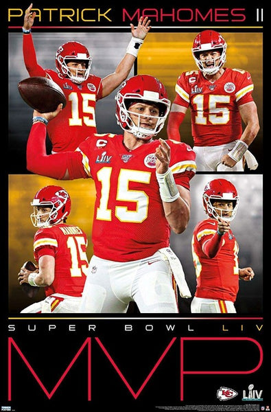 Patrick Mahomes Kansas City Chiefs Super Bowl LIV MVP Commemorative NFL Poster - Trends 2020