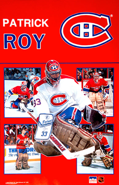 "Patrick Roy ""5-Pic"" Montreal Canadiens Goalie Classic NHL Action Poster - Starline 1990"
