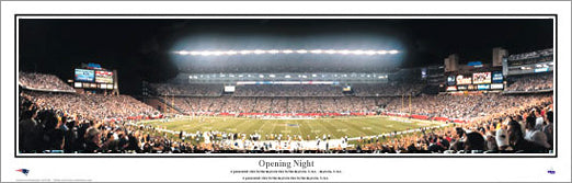 New England Patriots Gillette Stadium Opening Night Panoramic Poster Print - Everlasting