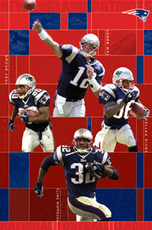 "New England Patriots ""Four Stars"" Action Poster - Costacos 2003"