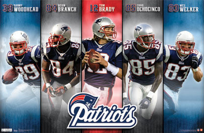 "New England Patriots ""Offensive"" Poster (Brady, Branch, Welker, ++) - Costacos 2011"